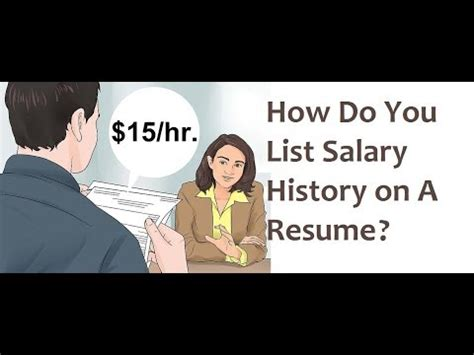 Add Salary History With Resume